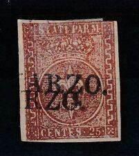 FRANCOBOLLI - PARMA C.25 BRUNO ROSSO Z/8687