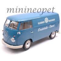 "WELLY 18053 1963 VW VOLKSWAGEN T1 BUS VAN ""PORSCHE WAGEN "" 1/18 DIECAST BLUE"
