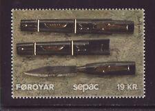 Faroe Islands 2017 Mnh - Handcraft, Knife - Sepac, Gold foil - one stamp