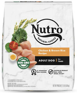 Nutro Natural Choice Chicken & Brown Rice Recipe Adult Dog Food, 13 lbs