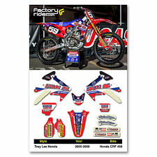 2005-2008 HONDA CRF 450 TLD Dirt Bike Graphics kit Motocross Graphics Decal