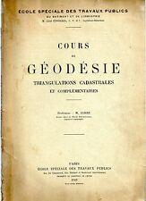 PHILIPPE JARRE COURS DE GEODESIE 1923 TOPOGRAPHIE DEDICACE