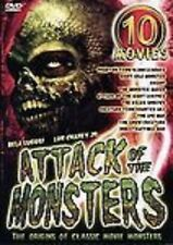 ATTACK OF THE MONSTERS 10 Horror Film (5 DVD SET) lot SEALED NEW