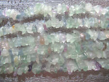 Green Fluorite Gemstone Beads Chips Jewelry Findings
