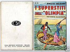 racconti e avventure emilio salgari #76 illustrati s. talman rare 1°edition 1936