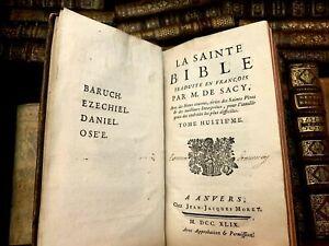 1749 HOLY BIBLE - Books of Baruch, Ezekiel, Daniel, Hosea