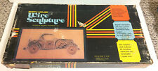 "VINTAGE ANTIQUE CHEVROLET CAR STRING ART KIT WIRE SCULPTURE NEW 12"" x 24"" 1972"