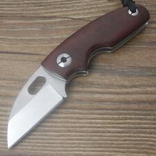 Y-START Messer Taschenmesser Klappmesser Razor Outdoor D2 Stahl Holzgriff