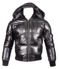 Abrigos y chaquetas de hombre negro cazadora de piel