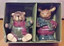 St. Nicholas Square - Heartland Salt & Pepper Shaker Set - Bear & Moose