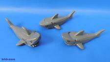 LEGO CITY / requin gris imprimé / 3 pièces