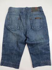 Stretch Jeans MADOC Bermuda Stretchjeans Capri 36 ca 28 Stickerei wie NEU /P171