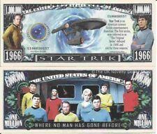 Star Trek Captain Kirk Spock Original Series Million Dollar Bills x 2 Space Crew