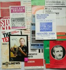 More details for vintage football rugby programme souvenir c1970 byrne wilkinson yeats wimbledon