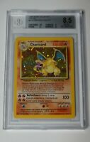Pokémon Base Unlimited Italian Charizard 4/102 - Vintage Graded BGS 8.5 NM-MT+