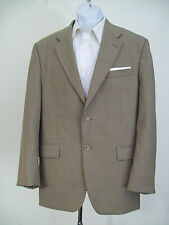 RALPH LAUREN made in Canada 100% wool light tan checked blazer 42R NICE!