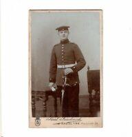 CDV Foto Soldat - Kastel am Rhein um 1900