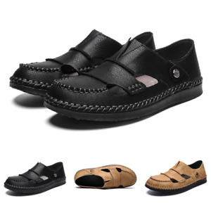 Roman Mens Sand Walking Sandals Shoes Closed Toe Sports Non-Slip Outdoor Comfy S