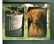 "Two Decks Non-Stand Playing Cards ""108 Dog Recipes/Pet Care""Finders Forum,Canada"