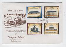 FDC Y10 Norfolk Island 1975 4v Historic Buildings
