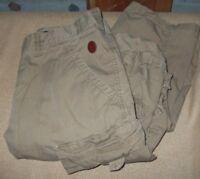 $70 SAMUEL & KEVIN women's TAN CARGO UTILITY KRINKLE pants SIZE MEDIUM