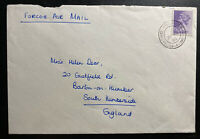 1983 British Field Post Office Hong Kong airmail Cover To Barton England