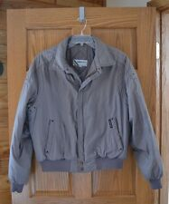 Members Only Winter Jacket Gray Men's Large 46 Retro 80s Rainbow Tag Htf
