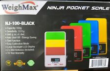 WeighMax Ninja Digital Pocket Scale 100gx0.01g Fine Precision batteries included