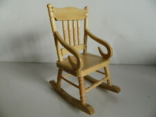 (HP15) DOLLS HOUSE PINE WOODEN ROCKING CHAIR