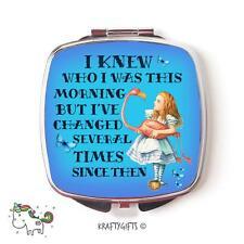 Alice in Wonderland Mad Hatter Compact Make up Handheld pocket Mirror Gift CMAW1