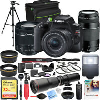 Canon EOS Rebel SL3 DSLR Camera w/ 18-55mm IS STM + 75-300mm Dual Lens Pro Kit