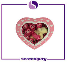 Valentine's Day Gift - Gift Box with Artificial Flower and Toy Bear - Pink