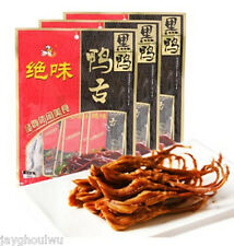 Chinese Food 40g*3 Jue Wei Sweet Spicy Duck Tongue 绝味黑鸭甜辣鸭舌40g*3 Free Shipping包邮