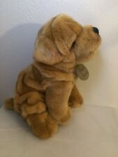Yomiko Classics Sharpei Plush 9in Sitting Dog Stuffed Animal -Russ Berrie