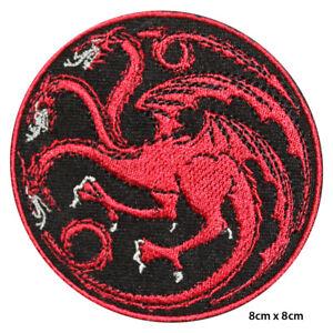Targaryen Game of Thrones House TARGARYEN Embroidered Patch Iron on Sew On Badge