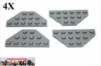 4X Lego® 2419 Eckplatten mit 45°Ecken 3X6 neues Dunkelgrau NEU