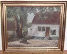 """DEKORATIVES GEMÄLDE """"BAUERNHAUS"""" SIGNIERT:M.J.1930 #6747"""