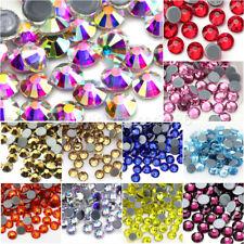 1440 pcs Hotfix Iron On Rhinestones Flat Back Crystal Glass Diamond Craft Beads