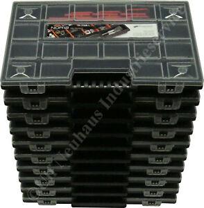 10 x Sortierkasten NOR12 variable Fachaufteilung 6 - 21 Fächer mit Tragegriff