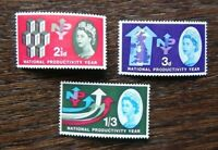 Great Britain 1962 National Productivity Year Phosphor set MM