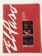Miss Teen Usa 1987 Official Program El Paso/ Juarez Show Director Tony Charmoli