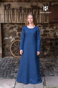 Mittelalter Unterkleid Wikinger Kleid Gewand / LARP - Waidblau von Burgschneider
