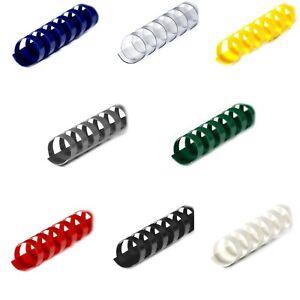 Optiplus Premium Plastikbinderücken 21 Ringe (6,0mm -22,0mm) rund