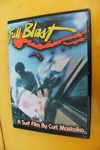 FULL BLAST Surf Film Curt Mastalka 80's T&C Hawaii Surfboards Rare Surfing DVD