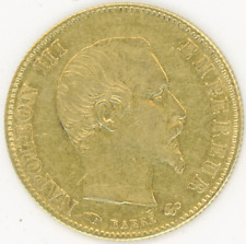 France 5 Francs 1860-A NAPOLEON 3rd Almost Uncirculated gold