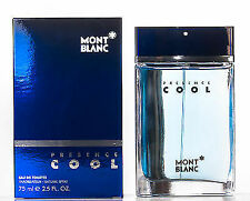 Presence Cool By Mont Blanc Eau de Toilette For Men 2.5 FL OZ 75 ML