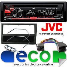 VAUXHALL MERIVA A 02-05 JVC Stereo CD MP3 USB Lettore & Nero Fascia KIT DI MONTAGGIO