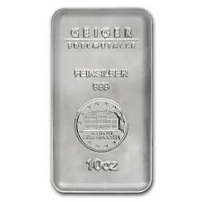 10 oz Geiger Silver Bar - Security Line Series - SKU #84106