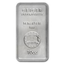 10 oz Silver Bar - Geiger (Security Line Series) - SKU #84106