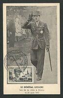FRANCE MK 1948 GENERAL LECLERC MAXIMUMKARTE CARTE MAXIMUM CARD MC CM d5256